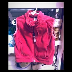 Baby girl pink fleece vest Sz 2T